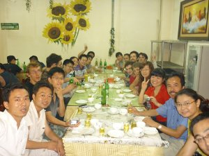 Dinner in Changchun during the France-China summer school 2011