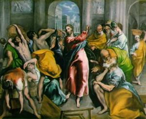Jésus chassant les marchands du temple - El Greco (1541-1614)