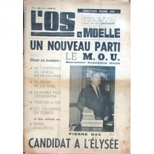 Une de l'Os à Moelle, numéro 43 du 11 février 1965