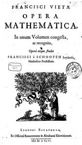François Viète - Opera Mathematica