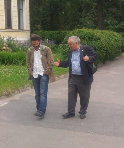 Olivier Guédon and Vitali Milman, Euler Mathematical Institute, Saint-Petersburg, Russia, June 2013